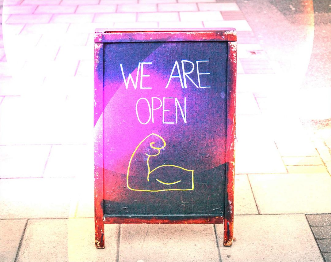 Marketing Your Business Post COVID-19 We Are Open A-Board Sign